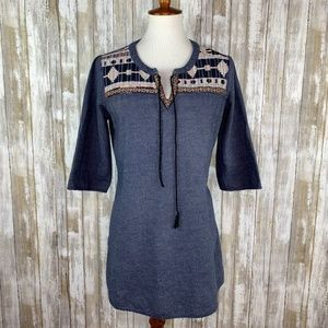 Flying Tomato Chambray Embroidered Tunic Sz Large